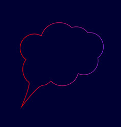 speach bubble sign line icon vector image