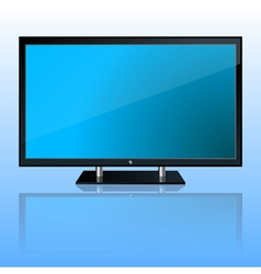 Wide computer monitor vector image vector image