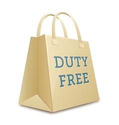 Duty free shopping bag vector