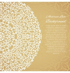 Ethnic background with mandala lace ornament vector image