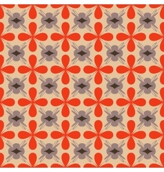 Flower orange seamless pattern vector image vector image