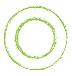 green circles grunge frame vector image vector image