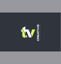 green letter tv t v combination logo icon company vector image
