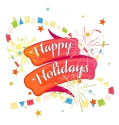 Happy holidays postcard vector image
