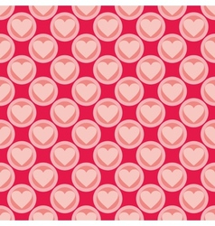 Pink and red seamless background with hearts vector image vector image