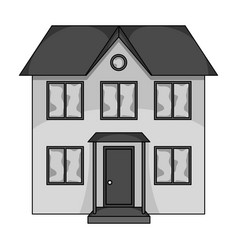 private cottagerealtor single icon in monochrome vector image