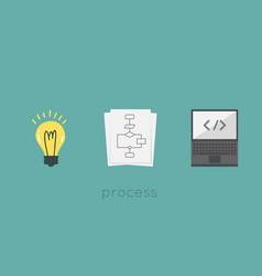 process vector image vector image