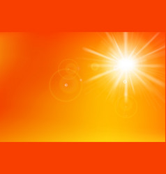 abstract yellow and orange background with vector image vector image