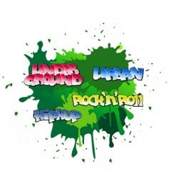 graffiti background vector image