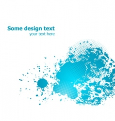 paint splashes vector image vector image