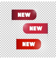 Red Labels Tags Set with New Title vector image