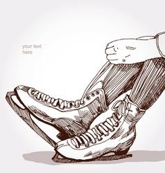 skates vector image vector image
