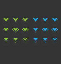 Wifi icons set wireless signs vector