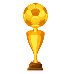 award with soccer ball on white vector image