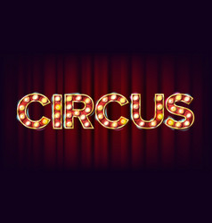 circus banner sign for banner poster vector image vector image