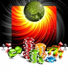 entertainment background vector image vector image
