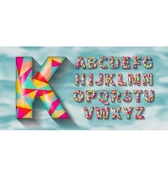 Geometric English alphabet Polygonal geometry vector image
