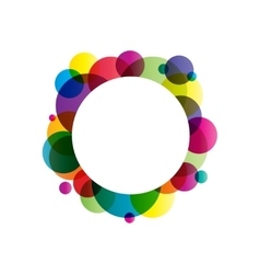 Gradient circles frame vector image