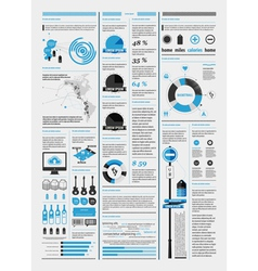 infographics with a map vector image