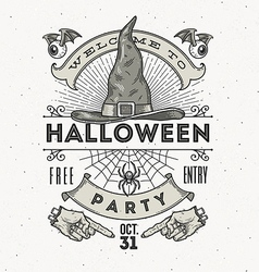 Line art for Halloween party vector image