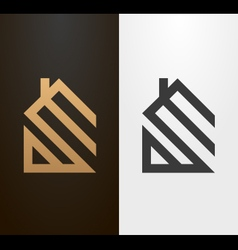 Simple line house logo icon vector image