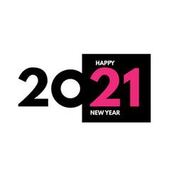 2021 text logo design happy new year label vector