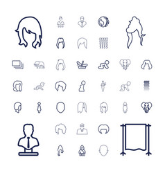 37 portrait icons vector