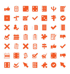 49 choice icons vector image