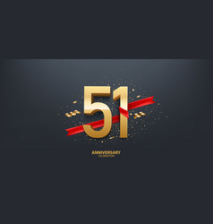 51st year anniversary background vector