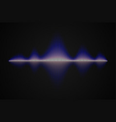 abstract music sound wave vector image