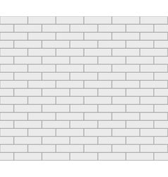Abstract seamless white flat brick wall vector