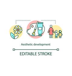 Aesthetic development concept icon vector