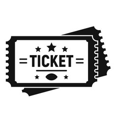 american football ticket icon simple style vector image
