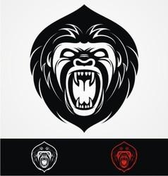 Angry Gorilla Head Mascot vector