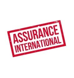 Assurance International rubber stamp vector