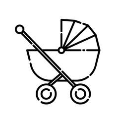 bastroller icon design clip art line icon vector image