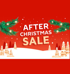 beautiful christmas poster with fir branches vector image