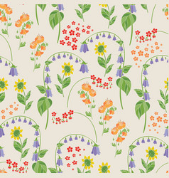 beige floral seamless pattern vector image