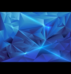 Blue abstract triangles geometric background vector image