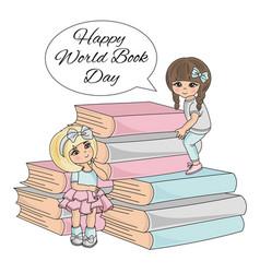 Book child world book day knowledge school vector
