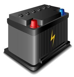 Car battery vector