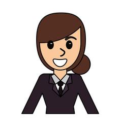 cartoon girl comic image vector image