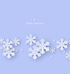 christmas holiday design with paper cut style vector image
