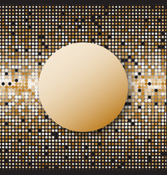 Circle halftone gold dots abstract background vector
