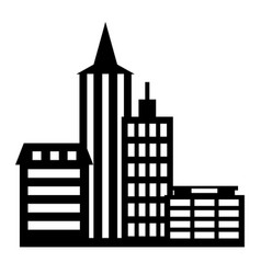 city icon on white background vector image