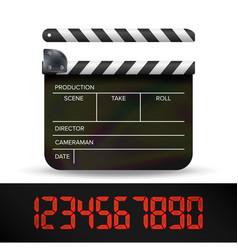 Clapper board digital film movie clapper vector