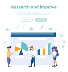 concept business management statistics vector image