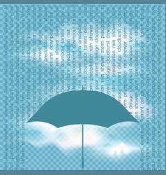 Concept rain vector
