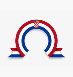 croatian flag rounded abstract background vector image