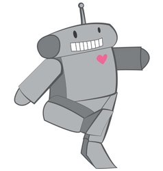 Cute Heart Robot vector image